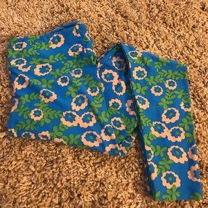 Lularoe blue, green and peach  leggings